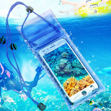 Waterproof Underwater PVC Package Pouch Diving Bags For iPhone Outdoor Mobile Phone Pocket Case waterproof case for phone(China)