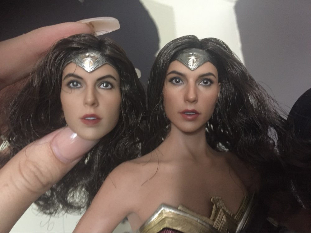 1//6 Gal gadot Wonder Woman TESTA SCOLPIRE per Hot Toys PHICEN tbleague Figura USA