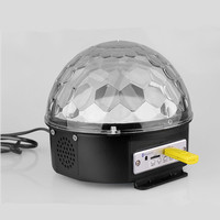 9 Colors Remote LED Magic Ball MP3 Sound Control Stage Light Magic Crystal Ball Lamp Bluetooth