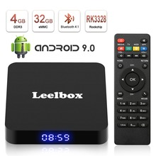 Q4 Smart TV Box Android 9.0 4GB 32GB RK3328 1080p 4K Wifi Google Play Netflix Set top Box Media Player Android Box 9.0 цена и фото