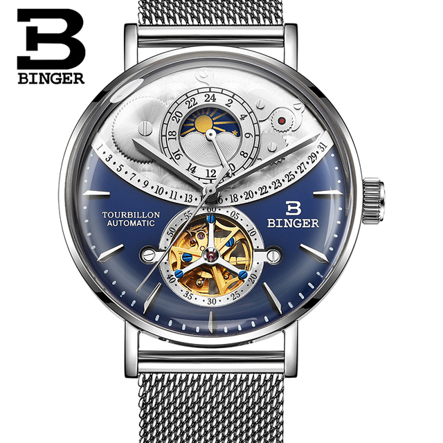 Swiss Brand Automatic Mechanical Full Steel Sapphire Watch 2