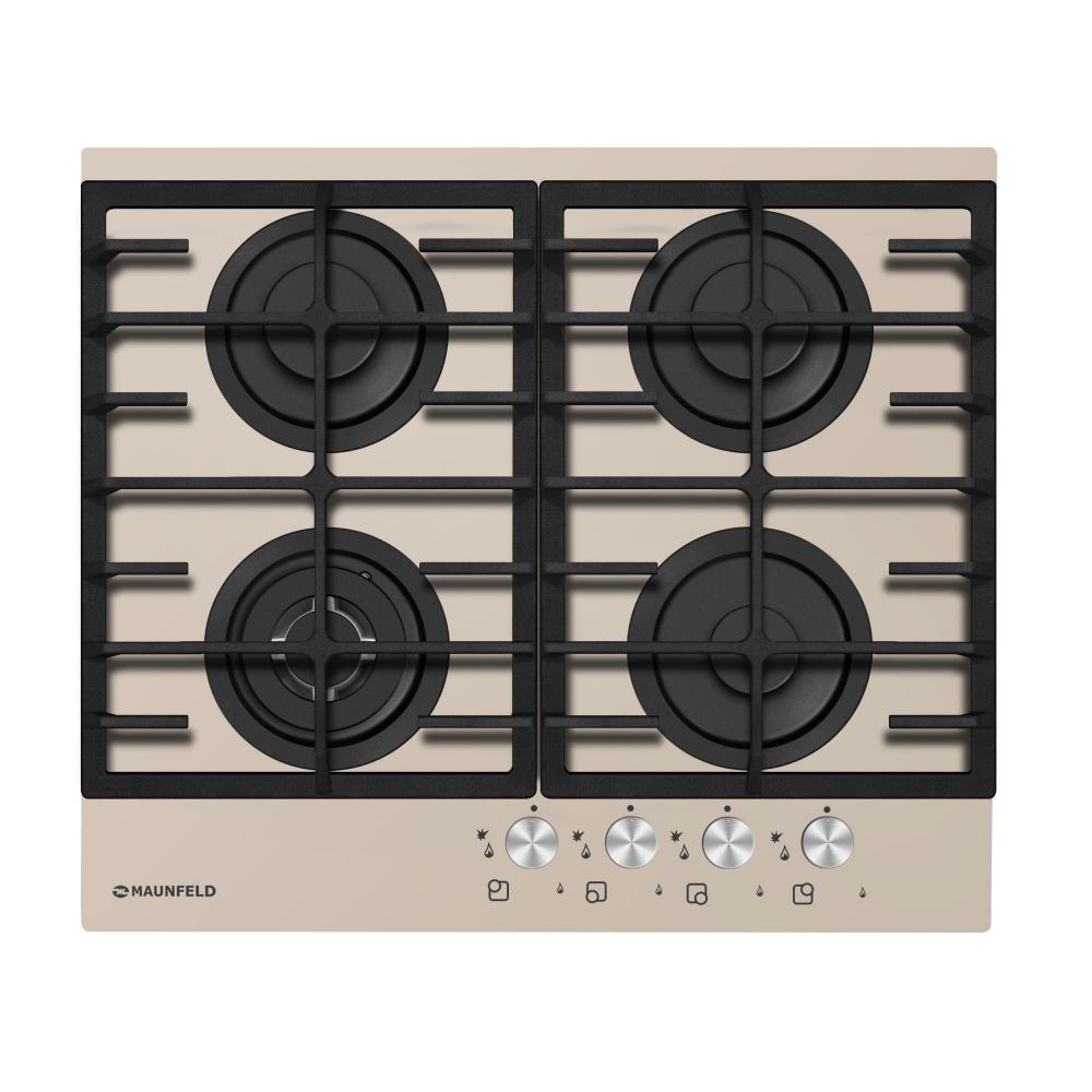 Cooking panel MAUNFELD MGHG 64 17 I (D) dark beige printio синее сердце