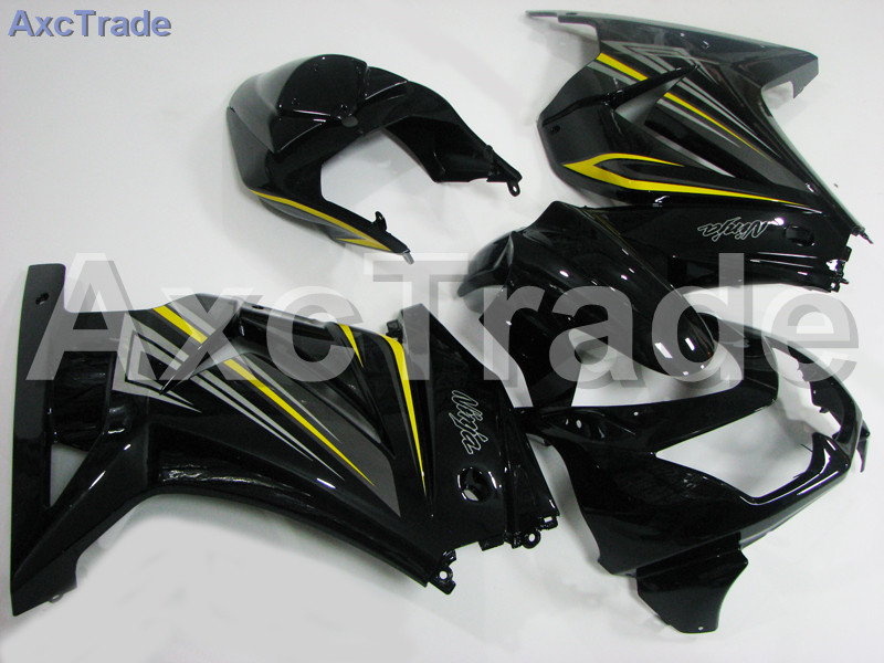 Motorcycle Fairings For Kawasaki Ninja 250 ZX250 EX250 2008-2012 08 - 12 ABS Plastic Injection Fairing Bodywork Kit Black A443 motorcycle fairing kit for kawasaki ninja zx10r 2006 2007 zx10r 06 07 zx 10r 06 07 west white black fairings set 7 gifts kd01
