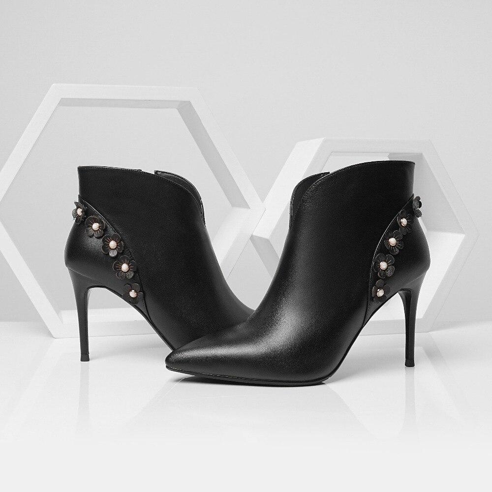 Mince Single Pour Hauts Femmes Hiver 5 Beige Fleurs Warm beige black black De Luxe Single À Warm Feminina Chaussures Femme 8 2018 Boot Bota Talons Cm ExfgIwng0q