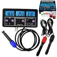 6 in 1 Professional Multi parameter Combo Testing Meter,pH/ ORP/ EC/ CF/ TDS PPM/ Temperature Digital Multi Function Tester