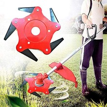 Upgrade Trimmer Head 65Mn lawnmower New five-leaf Grass Metal Blade Petrol Brush Cutter Universal Garden Power Tools