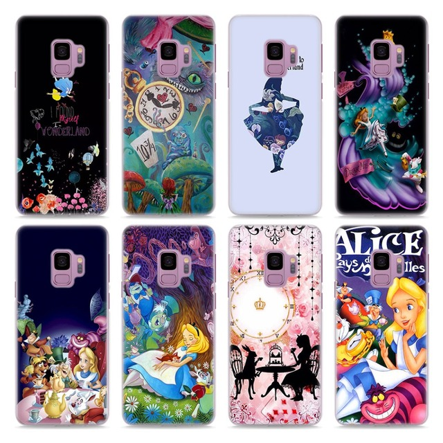 Alice In Wonderland Style Transparent Frame Hard Case Cover For