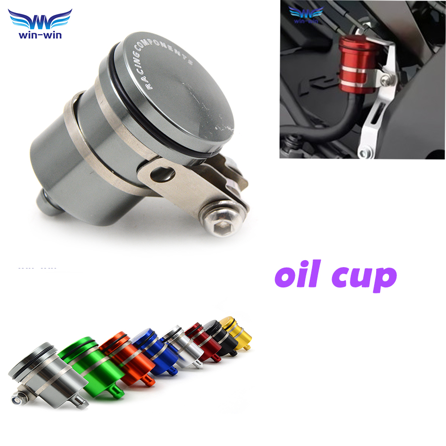cnc universal motorcycle Fluid Reservoir Clutch Tank rear front brake oil cup for Kawasaki z800 z750 ninja 250 SL 750 Shiver