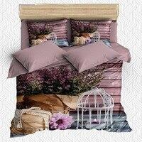 Sonst 6 Stück Vogel Käfig Geschenk Box Blumen Rosa Wand 3D Druck Baumwolle Satin Doppel Bettbezug Bettwäsche Set Kissen fall Bett Blatt-in Bettbezug aus Heim und Garten bei