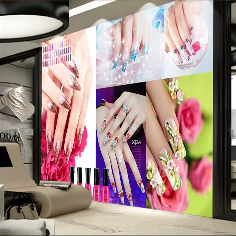 Beauty salon nail salon tooling wall professional production mural factory wholesale wallpaper mural photo wall in Fabric Textile Wallcoverings from Home Improvement