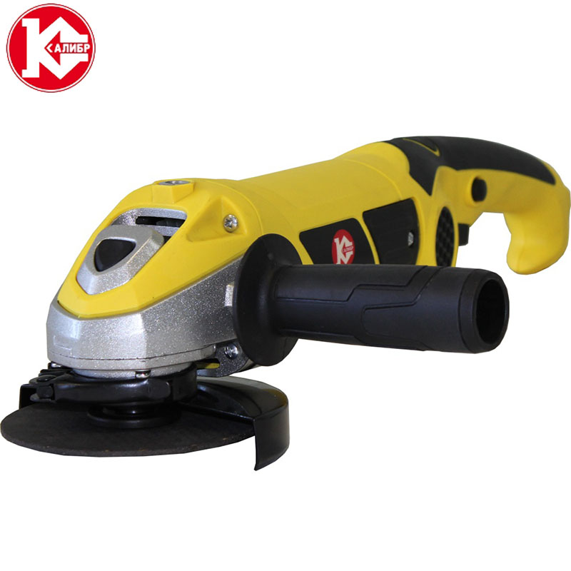 Kalibr MSHU-125/1200M Angle Grinder Electric Metal Cutting Tool Small Hand Held Red Power Tool High Quality kalibr mshu 125 1055 angle grinder grinding machine metal polisher angular power tool metal and wood cutting sanding polishing