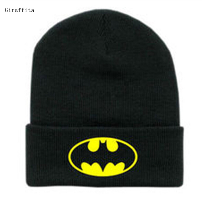 New Winter Black Hip Hop Casual Mens Knitting Warm Gorros Ski Bonnet Skullies Caps Batman Face Mask Unisex Beanies sn su sk snowboard gorros winter ski hats skating caps skullies and beanies for men women hip hop caps knitting bonnet chapeu