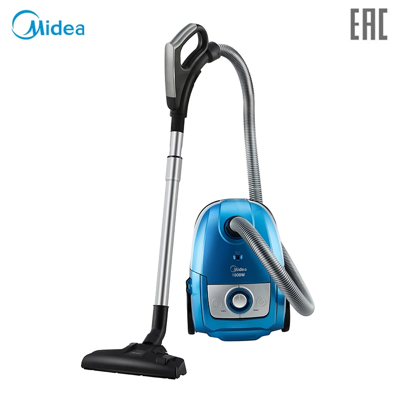 Midea VCB40A14D-B bagged canister with 1800W power and big suction power midea vcb40a14d b bagged canister with 1800w power and big suction power washable and recycling microfiber dust bag