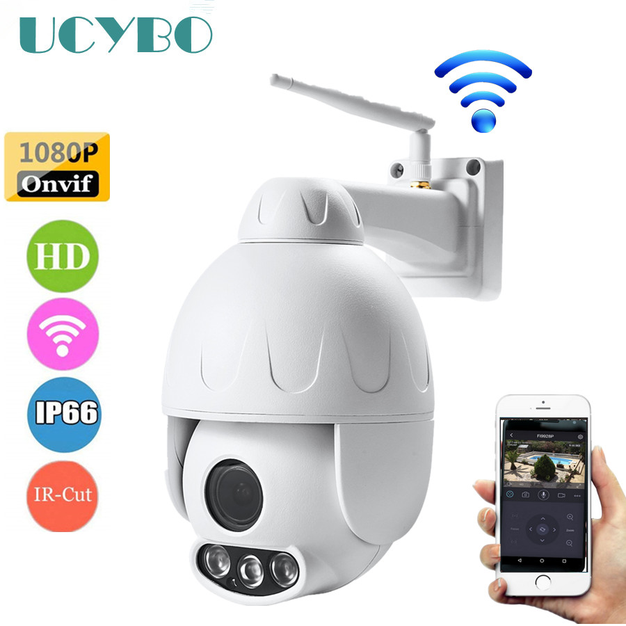 Caméra IP Wifi ptz sans fil extérieure 1080 P HD 2mp Mini dôme de vitesse onvif caméras de surveillance vidéo de sécurité cctv panoramique inclinaison 5x zoom