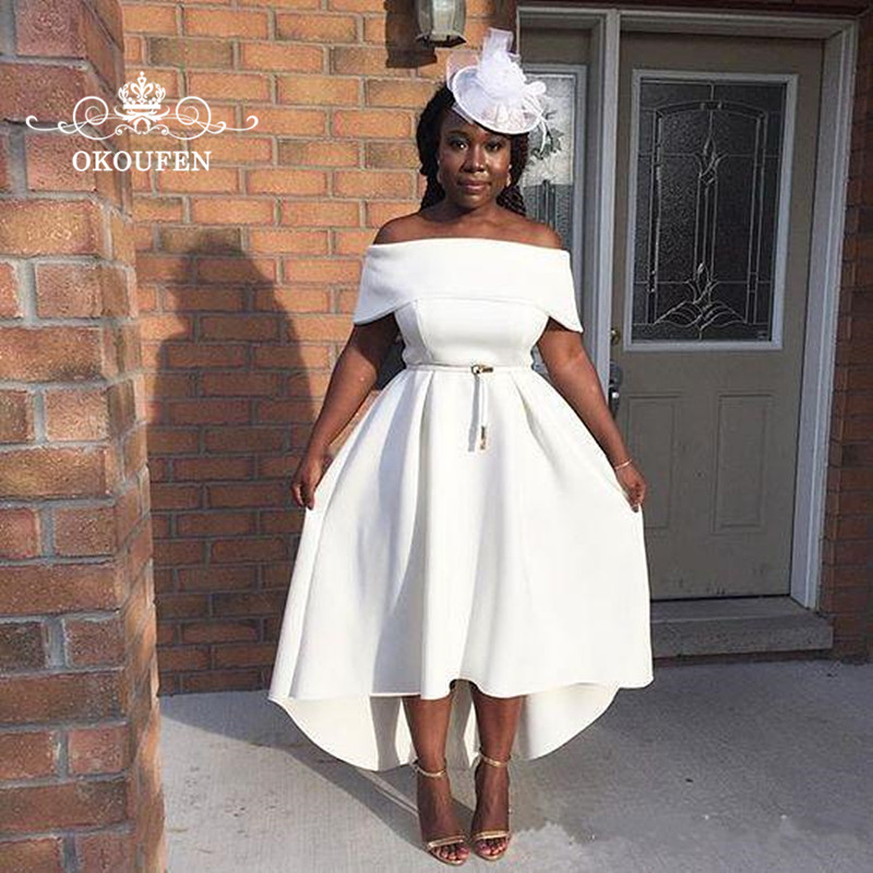 OKOUFEN African Women High Low Mother Of The Bride Dresses