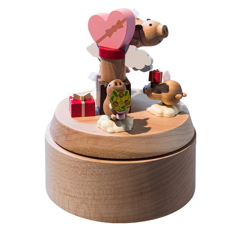 Caixinha Karuzela Pozytywka Carrusel Madera Birthday Gift For Girlfriend Wood De Musica Boite A Musique caja Musical Music Box in Music Boxes from Home Garden