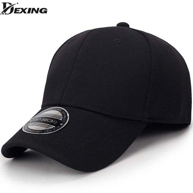 Sólido negro unisex gorra de béisbol snapback sombrero flexfit sombrero  ajustado cerrado hombre de tapa completa d50fd6e6bfc