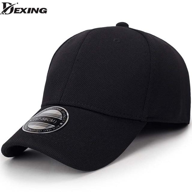 Sólido preto unisex boné de beisebol dos homens snapback hat mulheres cap  flexfit chapéu cabido Fechado a04b1568da7