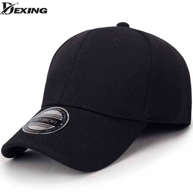 solid unisex black baseball cap men snapback hat women cap flexfit fitted  hat Closed Male full a0c80d3aa