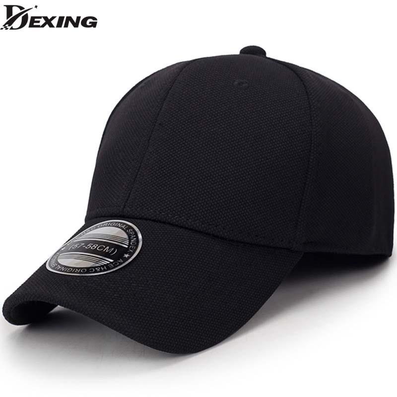 solid unisex black   baseball     cap   men snapback hat women   cap   flexfit fitted hat Closed Male full   cap   Gorras Bones trucker hat