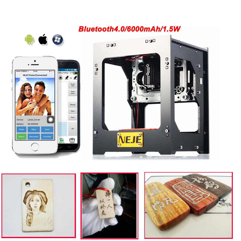 DK-BL 1500mW Mini DIY Laser Engraving Machine Wireless Bluetooth Print dk bl 1500mw mini diy laser engraving machine wireless bluetooth print