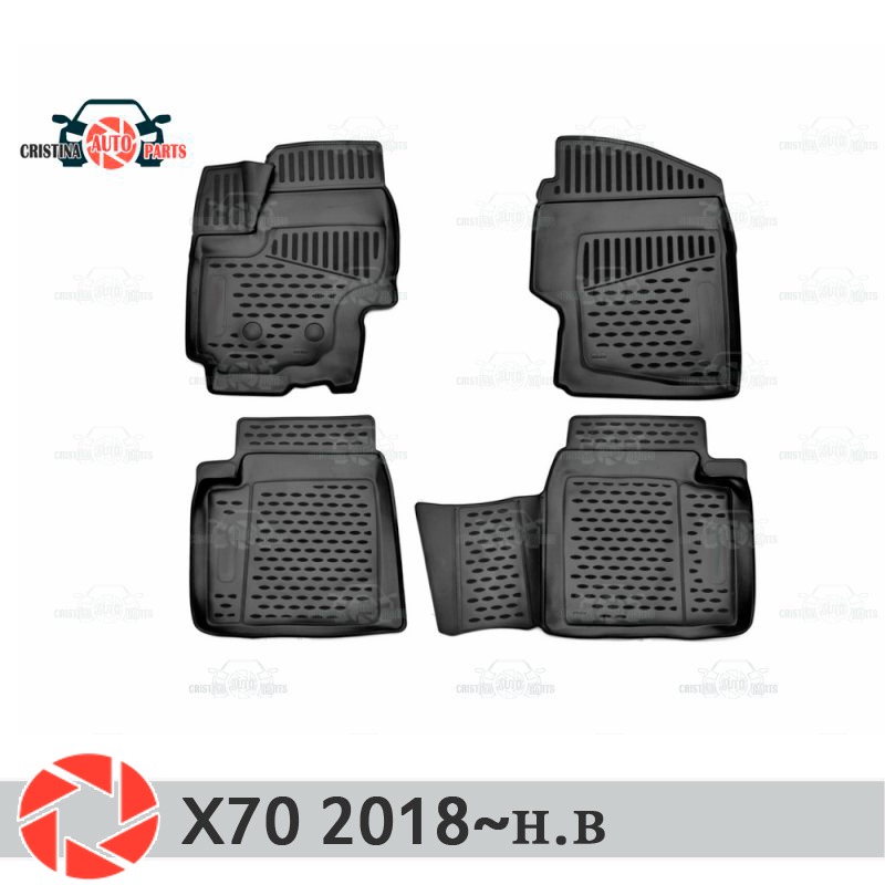 Floor mats for Lifan X70 2018~ rugs non slip polyurethane dirt protection interior car styling accessories custom car floor mats for mini countryman coupe paceman clubman cabrio roadster car accessorie car styling floor mat