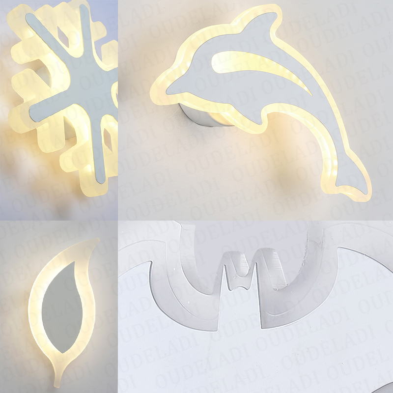 Image 5 - Modern Acrylic wall light Childrens room bedside bedroom LED wall lamps arts creative Corridor Aisle Sconce Decor AC85 265VLED Indoor Wall Lamps   -