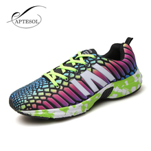 2017 Summer Outdoor Sport Brand Running Shoes Men Light Weight Lace Up Breathable Sneakers Plus Size Pu Leather Athletics Shoes