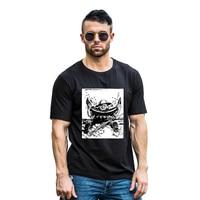 Soldier Watermelon Print Men's Summer O-Neck Short Sleeve Top Tee Soft T-Shirt