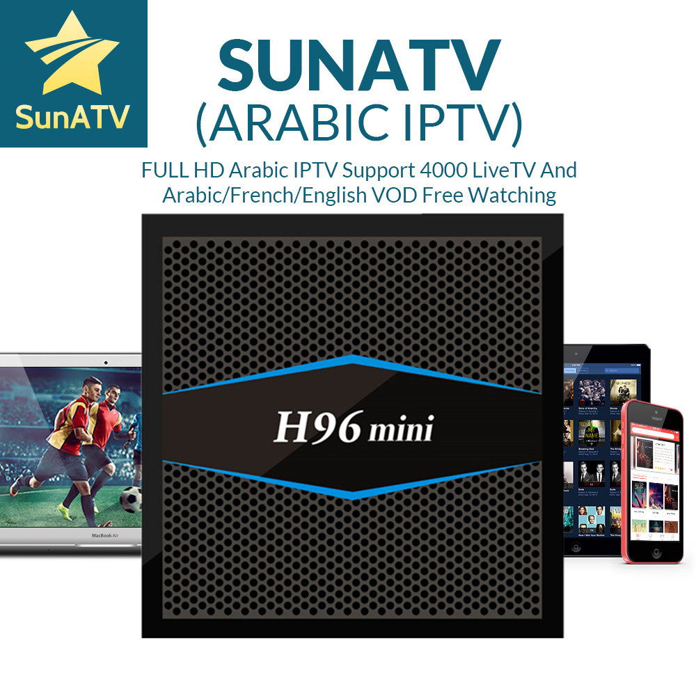1 Year IPTV included H96MINI 2G16G S905X TV Box SUNATV/Netflix configured Arabic IPTV Europe iptv French Set top box smart box 1 year dazn iptv sports live and on demanding streaming with h96mini 2g16g s905x tv box esuntv europe italy iptv set top box