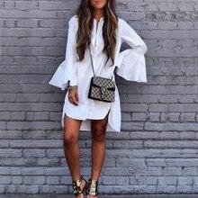 Women Ruffle White Shirt Spring Autumn Fashion Tops Ladies E