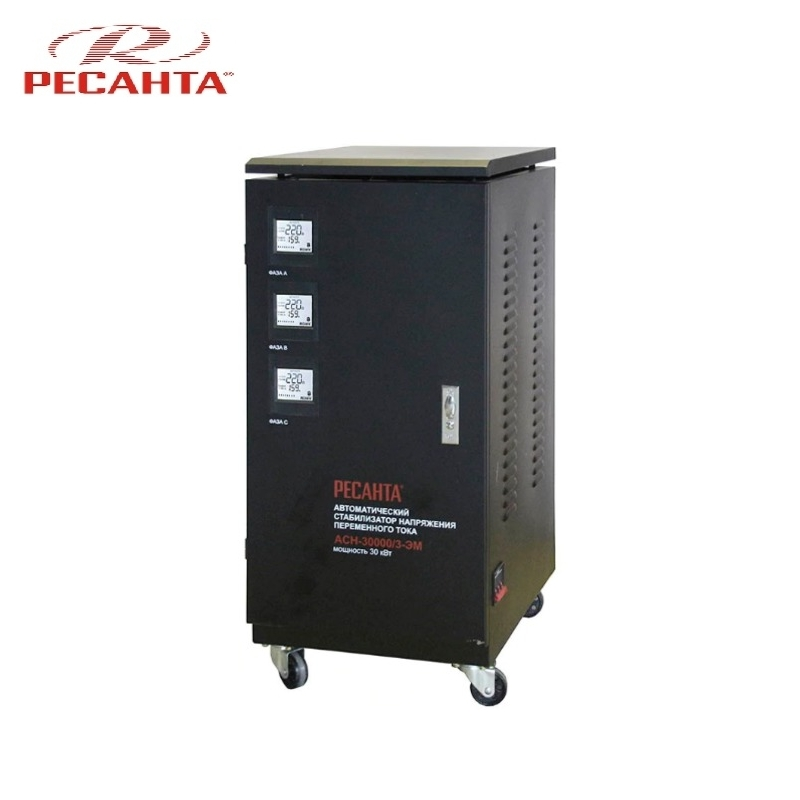 Stabilizer RESANTA ASN-30000/3 Triphase Voltage regulator Monophase Mains stabilizer Surge protect Voltage supply regulator банка для сыпучих продуктов giaretti krupa цвет красный прозрачный 750 мл