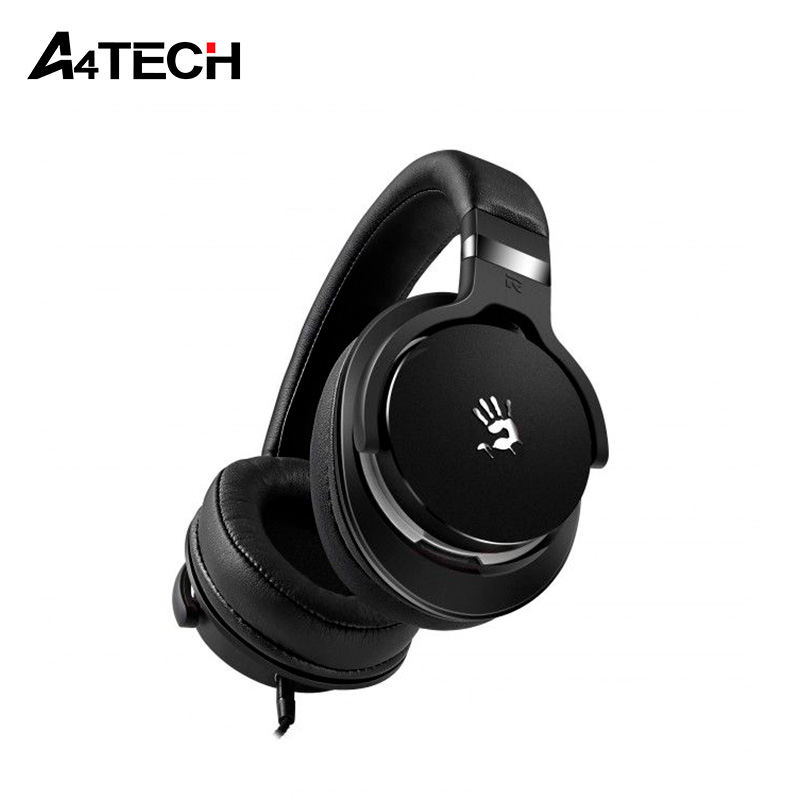 Gaming headset A4Tech Bloody M550 gaming headset led light glow noise cancealing pc gamer super bass headband headphones with microphone for computer pc