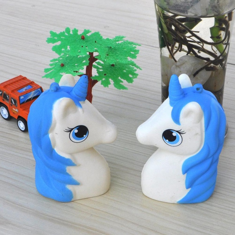 Cute Original Unicorn Head Super Slow Rising Jumbo Horse Soft Cream Scented Bread Cake Kid Fun Toy Gift