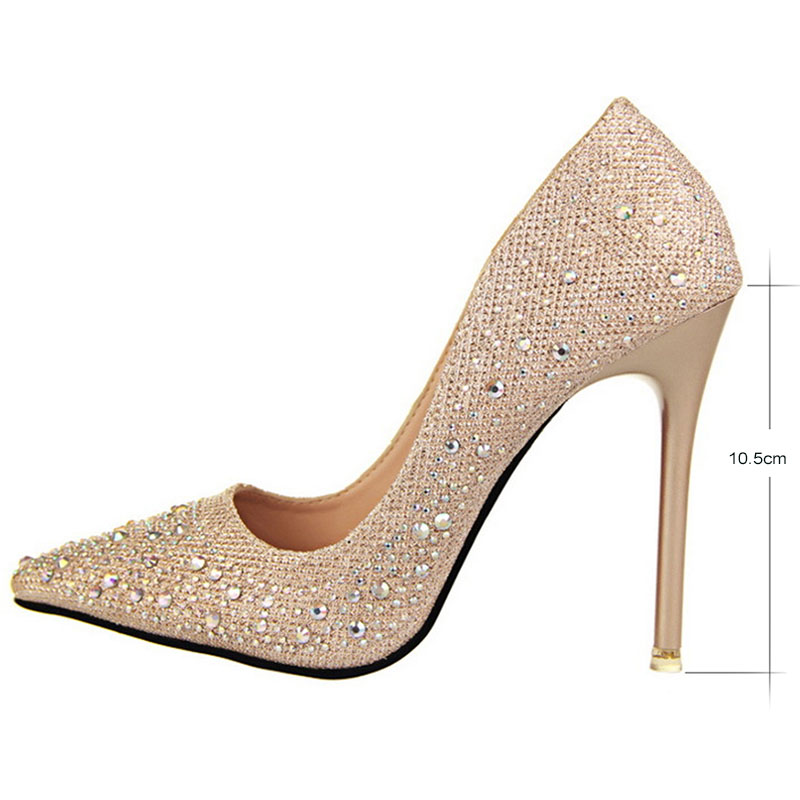 Weal Brand Shoes Women High Heels Pumps Silver 11cm Wedding Black Party In S From On