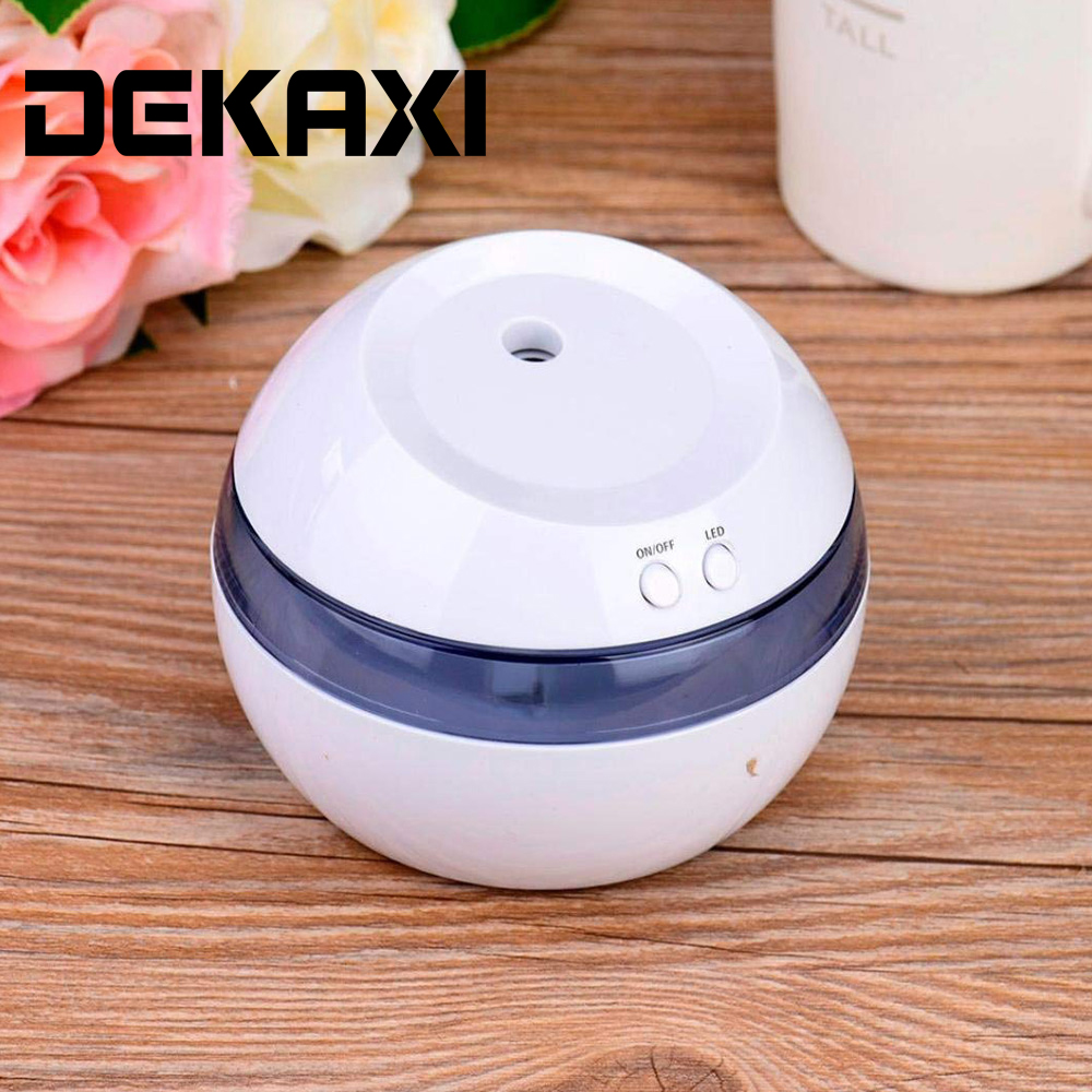 DEKAXI Mini Ultrasonic Air Aroma Humidifier Electric Aromatherapy Essential Oil Aroma Diffuser With Color Led Lights For Baby