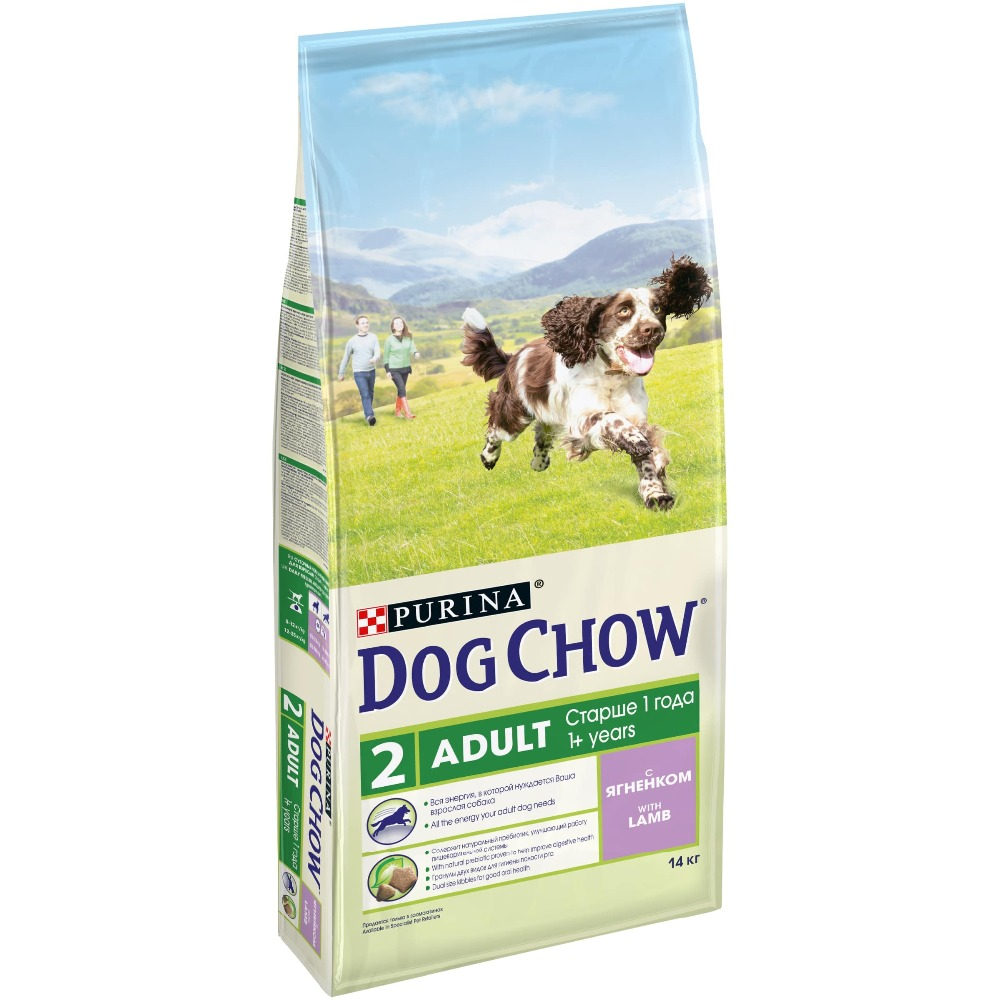 Dog Chow dry food for adult dogs over 1 year old with a lamb, 14 kg the 1 000 year old boy