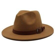 Seioum специальная фетровая шляпа Мужские фетровые шляпы с поясом женские винтажные шляпы Трилби Шерсть Fedora теплая джазовая шляпа Chapeau Femme feutre