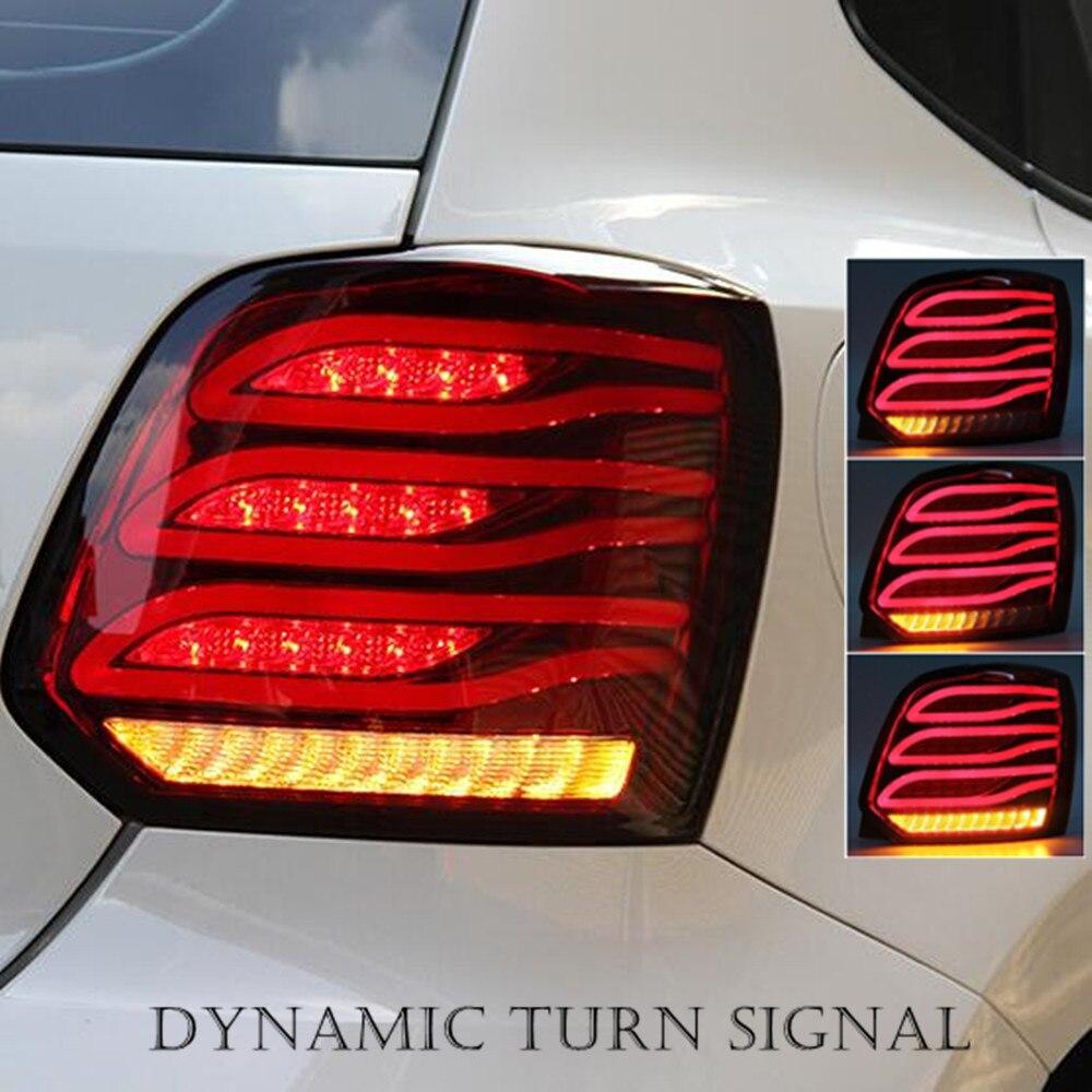 LED Rear Light Trunk Taillight DRL Brake Park Light Dynamic Turn Signal Lamp For Volkswagen VW