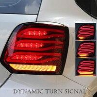 LED Rear Light Trunk Taillight DRL Brake Park Light Dynamic Turn Signal Lamp For Volkswagen VW Polo Mk5 V 6R 6C 2010 2017