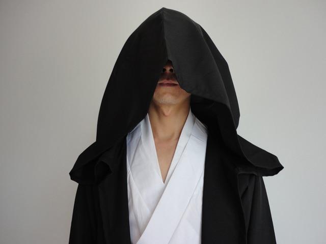 Star Wars Robe Adult Hooded Robe Jedi Kinight Cosplay Black/Brown Cloak Cape Anakin Skywalker Obi- Wan 6 size 2