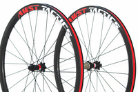 Powerway R13 Hub Aero Spoke Wheels 700c Carbon Road Bike Clincher Rim 30mm 38mm 45mm Deep 23mm Wide Bike Carbon Road Bicycle