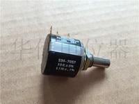 Оригинальный новый 100% 534 7057 0.1% 10 К 10 круг многовитковый потенциометр диаметр вала 6,4 мм (коммутатор)