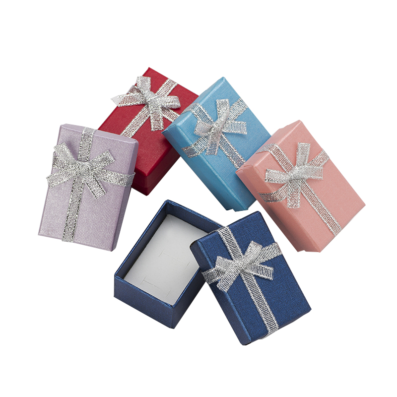 4x6cm Jewelry Boxes Pealr Paper Gift Boxes For Jewellery Packaging Display Earring Necklace Pendant Ring Box With White Sponge