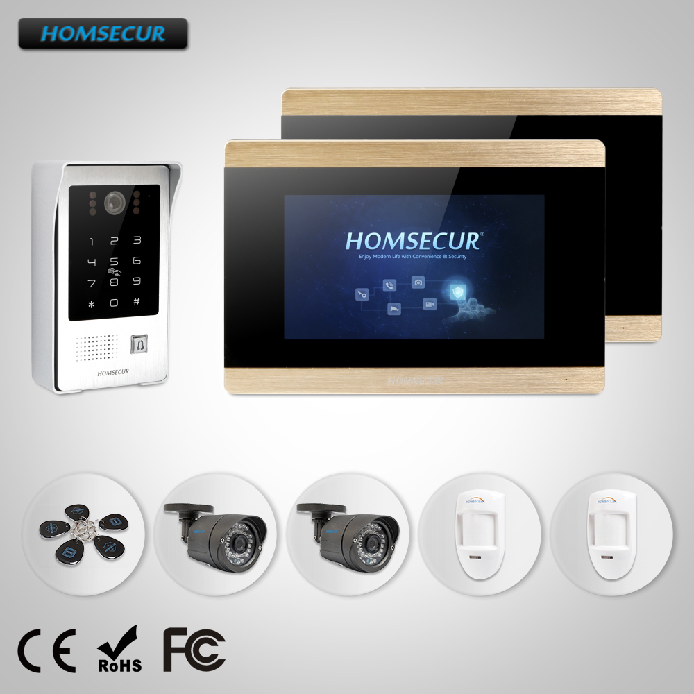 HOMSECUR 7 Wired Video&Audio Home Intercom+Touch Screen Monitor for Apartment  BC091+BM715-GHOMSECUR 7 Wired Video&Audio Home Intercom+Touch Screen Monitor for Apartment  BC091+BM715-G