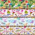 Else Pink Summer Fruits Animals Table Cloth Runner Home Decorations for Kitchen Dining Room Wedding Birthday 40X140CM