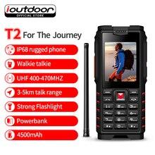 ioutdoor T2 IP68 Waterproof Handheld Portable Walkie Talkie Phone Two Way FM Radio UHF 400 470