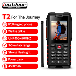 ioutdoor T2 IP68 Waterproof Handheld Portable Walkie Talkie Phone Two Way FM Radio UHF 400-470 MHz Transceiver Russian keyboard