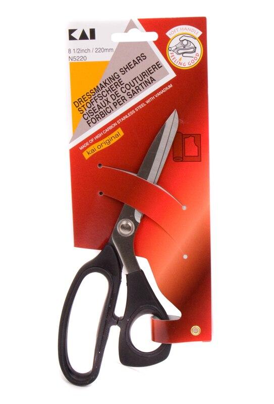 """220 มม.,ช่างตัดเย็บกรรไกร """"KAI"""" N5220,Professional เย็บช่างตัดเย็บกรรไกรสำหรับเย็บปักถักร้อยผ้าตัด-ใน เครื่องมือเย็บและอุปกรณ์เสริม จาก บ้านและสวน บน   1"""