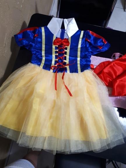 OTISBABY 4 layers Snow White Cosplay Dresses for Girls Party Princess Dress Children's Tulle Dress Baby Girl Tutu Dress Infant